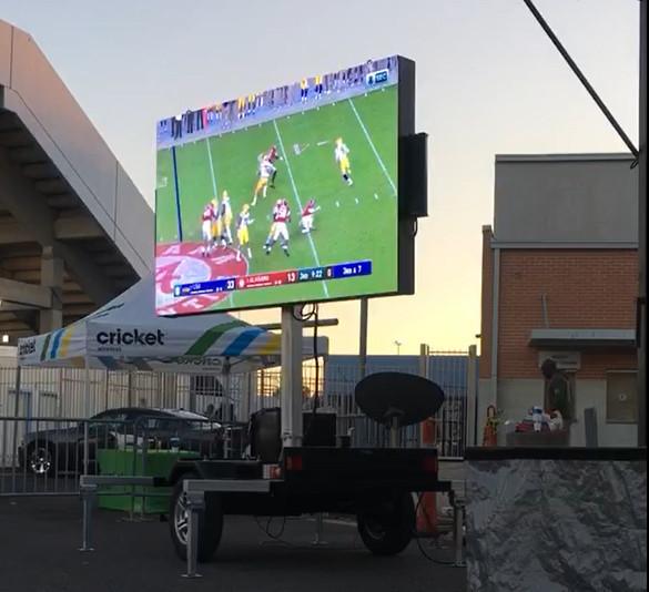 jumbotron Trailer at football game